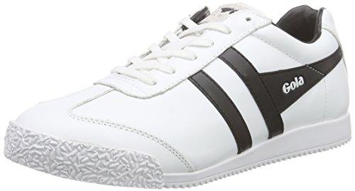 GolaHarrier Leather - Scarpe da Ginnastica Basse donna , Bianco (White - Weiß (White/Black)), 35.5