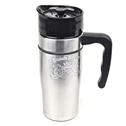 Dutch Bros. Coffee Stainless Steel French Press Travel Mug 20 Oz by Fly Cup Ltd