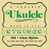 D'addario J65 Clear Nylon Ukulele Strings
