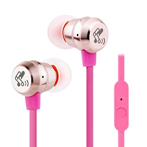 SoundPEATS (メーカー直販/1年保証付) 7色展開 カナル型 イヤホン 高音質 密閉型 外部ノイズ遮断 マイク付き 通話可能 曲送り戻し可能 M20 (ゴールド)