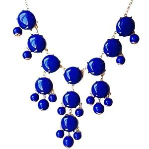 Bubble Necklace,Statement Necklace, Bubble Jewelry(Fn0508-Blue)