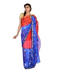 Asmara Collection Women's Cotton Silk Saree (SARARH00058, Multicolor)