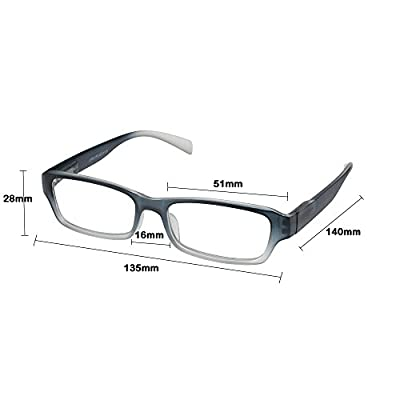 OptiPlix Neon Ombre Reading Glasses for Men & Women - Womens & Mens Designer Readers with Spring Hinged Temples