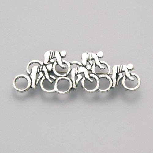 Sterling Silver Track Bike Brooch