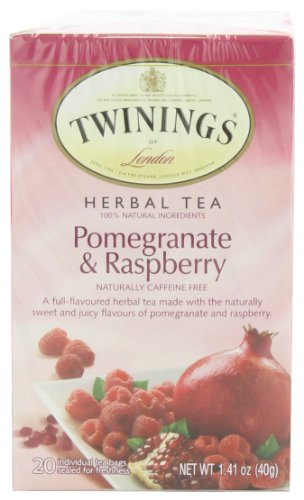 TWININGS Herbal Tea, Pomegranate and Raspberry, 20-Count (Pack of 6)