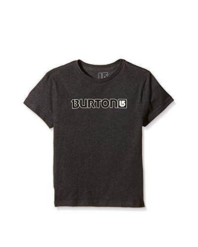 Burton - Maglietta da ragazzo con logo orizzontale e maniche corte Grigio charcoal M