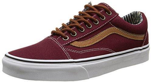 vans-old-skool-zapatillas-unisex-adulto-rojo-cl-port-royale-stripe-denim-43-eu