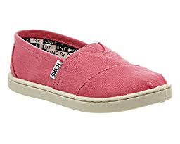 Toms Kids Classics Pink Canvas Slip-On Youth 1