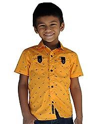 Snowflakes Boys' 4-5 Years Warrior Printed Casual Shirt