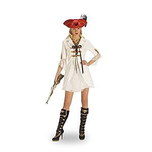 Sexy Pirate Lady Fancy Dress Costume - Womens - White - 36/38
