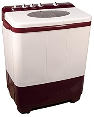Kelvinator KS7253DM Semi-automatic Top-loading Washing Machine (7.2 Kg, Maroon)