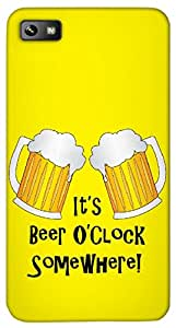 Timpax Protective Hard Back Case Cover With access to all controls and ports Printed Design : funny its beer o'clock somewhere cheers pints.100% Compatible with BlackBerry Z10