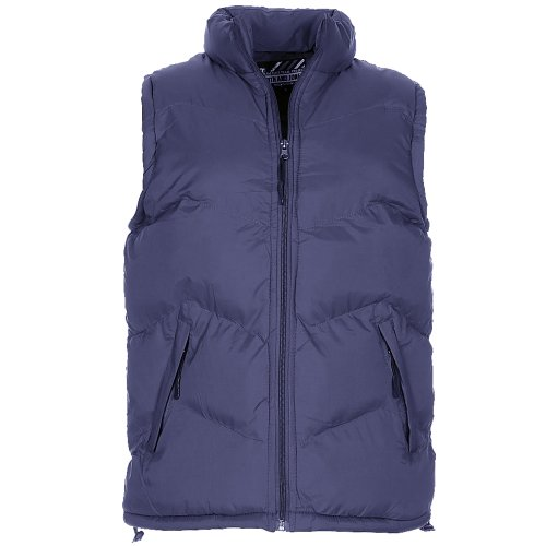 Smith & Jones Palantino Puffa Zip Up Quilted Padded Gilet Jacket Mens Size XXL - Blue