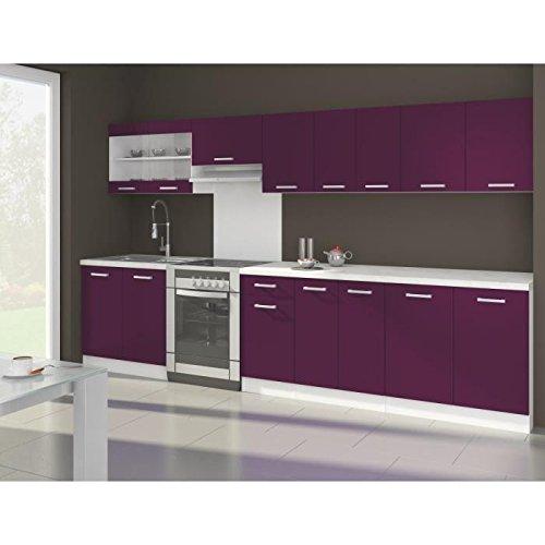 Ola cuisine complete aubergine mat 320 cm