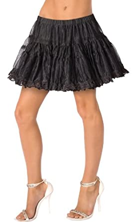The Bacchanal Grp. Inc. Womens Black Petticoat Deluxe Adult