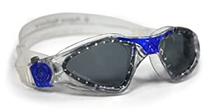 Aqua Sphere Kayenne Goggle With Low Profile Smoke Lens, Deep Blue, Small