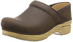 Dansko Women\'s Professional Antique Brown Oil Mule, 36 EU/5.5-6 M US