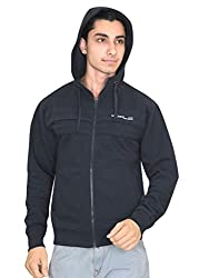 OZLO Men's Cotton Fleece Front Ribbed Sweatshirt