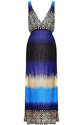 G2 Chic Women's Tropical Paisley Striped Maxi Dress