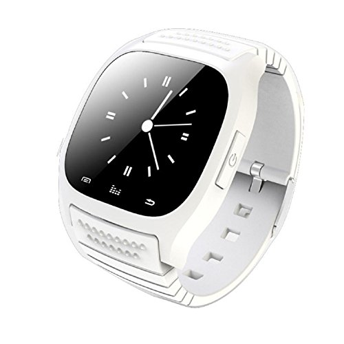 Sannysis Waterproof Bluetooth Wrist Smart Phone Watch For Ios Android Samsung Iphone Htc (White)