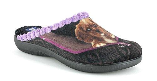 Inblu pantofole ciabatte invernali da donna art. Bq-105 nero NUOVO (36)