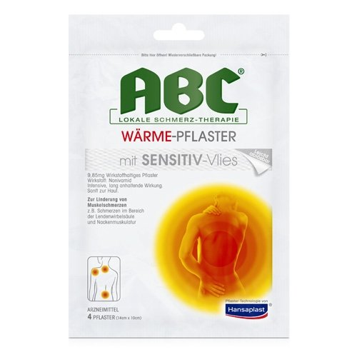 Hansaplast med ABC Wärme Pflaster sensitiv, 4 St
