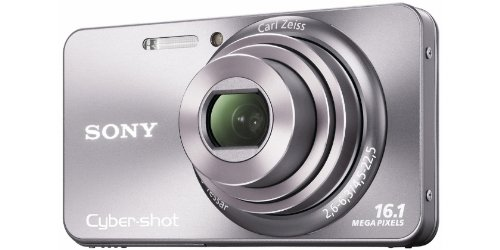 Sony DSCW570 Cyber-shot Digital Still Camera - Silver (16.1MP, 5x Optical Zoom) 2.7 inch LCD