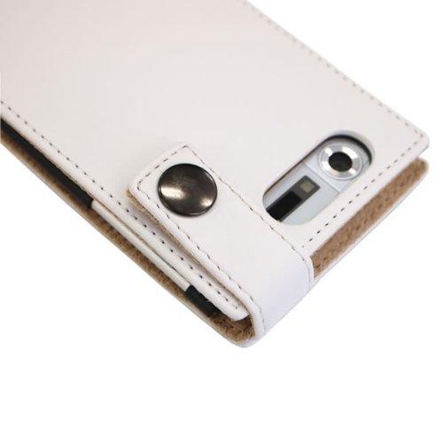 ロアス docomoスマートフォンMEDIAS N-04C専用PUレザーケース ホワイト SMC-NL02W