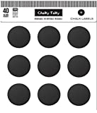 Chalky Talky 40 Regular Mason Jar Lid Reusable Chalkboard Canning Labels Fit Ball, Kerr, Weck