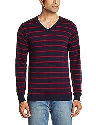 People Men's Cotton Sweater (8903880689834_P10101188000219_Medium_Navy)