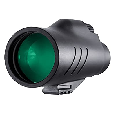 QUNSE High Power Monocular Scope - Bright and Clear Range of View - Single Hand Focus Telescope - Waterproof, Fogproof - for Bird Watching, Wildlife - Daytime Use from QUNSE