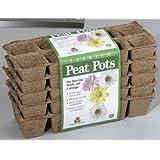 Plantation FS110 Square Peat Pots, 50 pots, (Discontinued by Manufacturer)