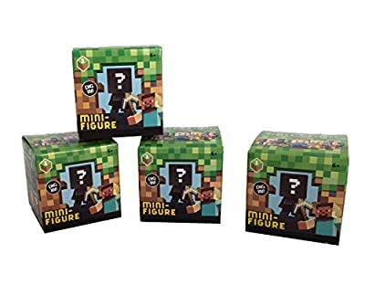 Minecraft Grass Series 1 Mini-figure Blind Box, Set of 4 from Mattel
