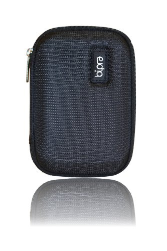Bipra Schwarze EVA Hard Case Tasche für Western Digital My Passport Essential & Essential SE 160GB/250GB/320GB/500GB/750GB/1TB Tragbare externe USB-Festplatte