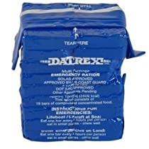 Datrex Emergency Survival 3600 Calorie Food Ration Bar (Pack of 10), 180 Bars