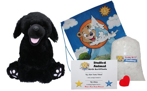 Make-Your-Own-Stuffed-Animal-Shadow-the-Black-Labrador-No-Sew-Kit-With-Cute-Backpack
