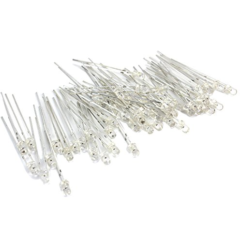 50 Pieces 3Mm Led Purple Light Emitting Diode Lamp Bright Dc 3.2-3.8V 2 Pin