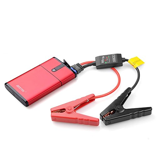 BESTEK Multi-Functional 300A Peak Current Car Jump Starter Power Bank with 5400mAh Portable External Battery Charger with Quick Charger 2.0 Port (Peak Car Jump Starter compare prices)