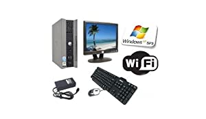 """Dell All-in-One Powerful Complete PC - Dell OptiPlex GX620 USFF - 15"""" TFT-LCD Monitor - 250GB Hard Drive - 2GB Memory - Wi Fi Enabled - Windows XP SP3"""
