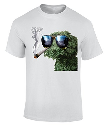 Oscar The Grouch Smoking Weed - XX-Large T-Shirt