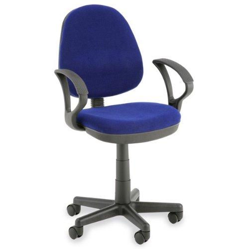 Chaise De Bureau Bleu Avec Accoudoirs Chaises Et Canap S