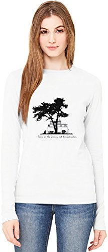 Focus on the Journey T-Shirt da Donna a Maniche Lunghe Long-Sleeve T-shirt For Women  100% Premium Cotton  DTG Printing  Small