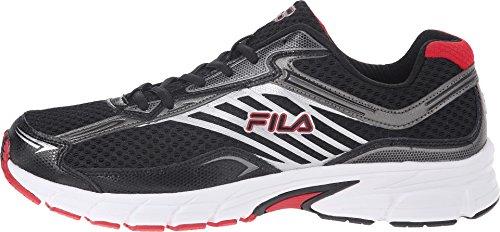 Fila Men's Xtenuate Black/Dark Silver/Fila Red Sneaker 11.5 D (M)