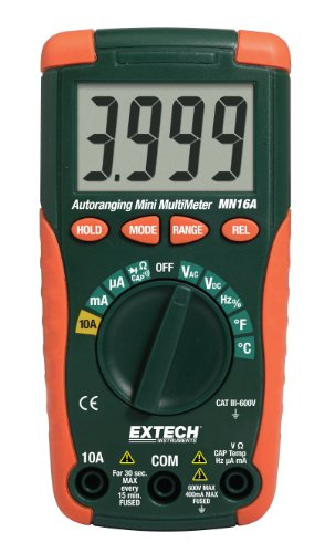 Extech MN16A Compact, Autoranging MultiMeter with Advanced Functions including: AC Current, Capacitance, and Frequency (Disable Auto R compare prices)