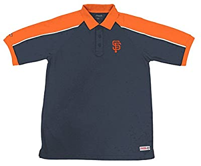 MLB San Francisco Giants Color Blocked Polo with Lined Mini Mesh Panels