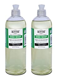 Lab-Clean 107-2 Bayes Eco-Responsible Dish Soap - Unscented - 16 OZ - 2 Pack