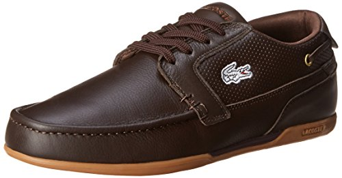 Lacoste Men's Dreyfus Boat Shoe,Dark Brown,10.5 M US