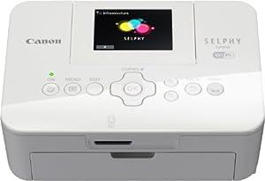 Canon Selphy CP910 Mobiler Fotodrucker (6.8 cm (2.7 Zoll) Display, 300 x 300 dpi, WLAN, USB) weiß