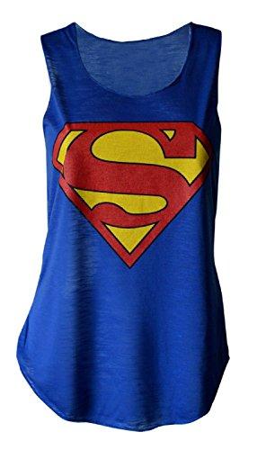 MyMixTrendz - Canotta -  donna Superman Vest Royal