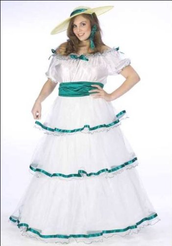 Adult Womens Halloween Costumes Antebellum Civil War Scarlett OHara Southern Belle Gown Costume Theme Party Outfit